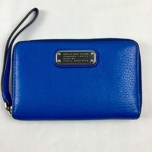 NWOT Marc by Marc Jacobs Royal Blue Wallet 7""